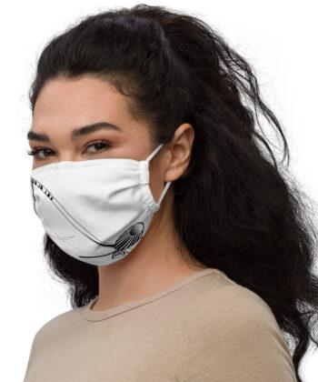 Masque Blanc Berimbau Capoeira - Masque facial en tissu