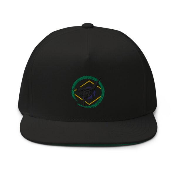 Casquette à Visière Plate Roda Capoeira - Noir - Casquette de baseball