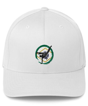 Casquette Brodé Roda Capoeira Blanche - Casquette de baseball