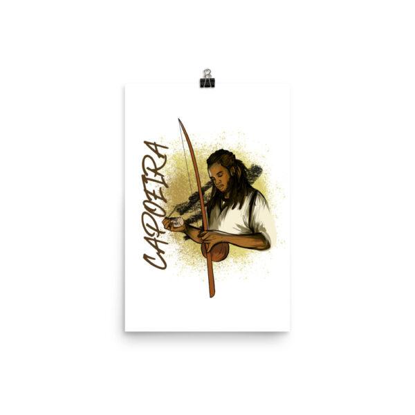 Poster Mat Capoeira Berimbau - 12 × 18 - Capoeira