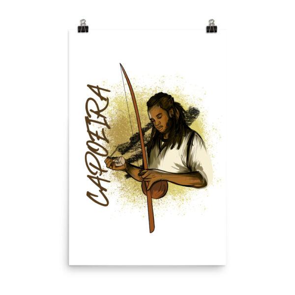 Poster Mat Capoeira Berimbau - 24 × 36 - Carte de voeux
