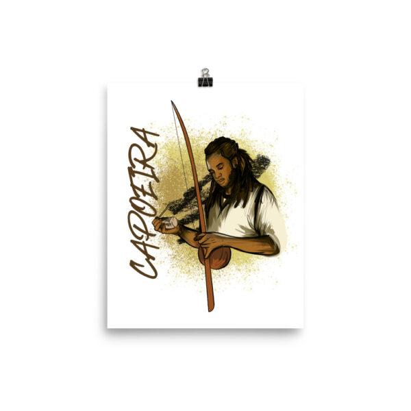 """Poster Mat Capoeira Berimbau - 8 × 10 """" - T-shirt"""