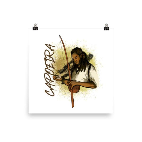 Poster Mat Capoeira Berimbau - 14 × 14 - Photographie de stock