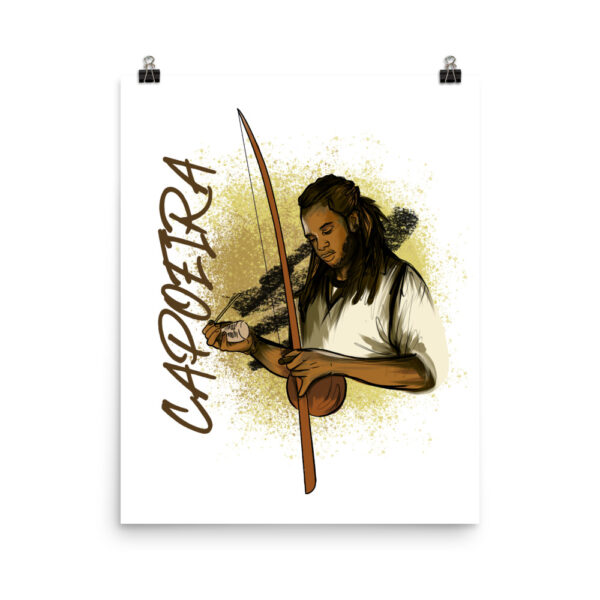 Poster Mat Capoeira Berimbau - 16 × 20 - Illustration