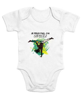 Body Bébé - Coton Bio - Je Peux Pas, J'ai Capoeira