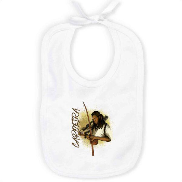 Bavoir 100% Coton Bio - Capoeira berimbau
