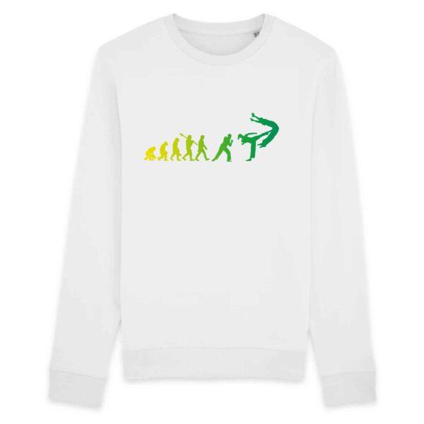 Sweat Femme BIO - Evolution du capoeiriste