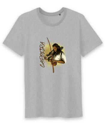T-shirt Homme Col rond - 100% Coton BIO - Capoeira Berimbau