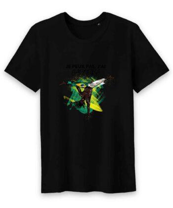 T-shirt Homme Col rond - 100% Coton BIO - Je Peux Pas, J'ai Capoeira