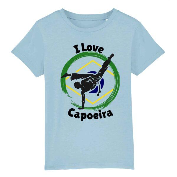 T-shirt Enfant - Coton bio - I love Capoeira